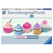Puzzle panorama 500 pezzi cupcakes