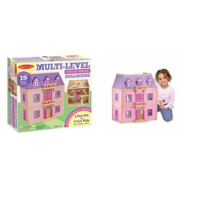 Casa delle bambole in legno vittoriana