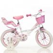"Bicicletta charmy kitty 14"" 4/7 anni"