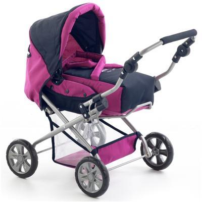 Carrello bambole Smarty in rosa con accessori borsa e piatto set Bayer piccolona NUOVO