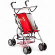 """Passeggino con parasole """"Vita"""" rosso per bambole Bayer chic 2000"""