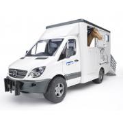 Bruder 02533 - M.B trasporto cavalli
