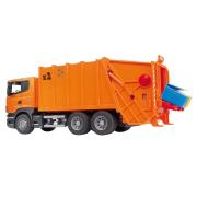 Bruder 03560 - Camion Trasporto Rifiuti Scania R Arancione