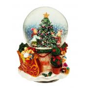 Palla di neve con albero di Natale cm. h13