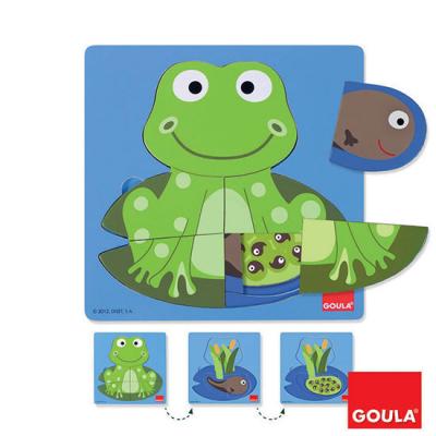Puzzle 3 livelli Rana Goula