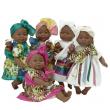 Bambola nera Maria con bebè cm. 45