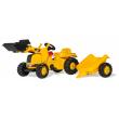 023288 RollyKid Cat con ruspa e rimorchio Rolly Toys
