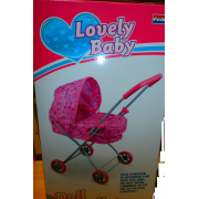 Carrozzina bambole colore rosa