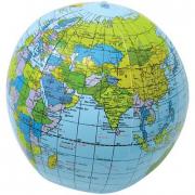Pallone mappamondo gonfiabile cm. 29