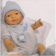 Bambola neonato maschio con coperta cm. 45
