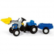 023929 New Holland T 7550 con rim. e ruspa RollyToys