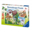 """Puzzle """"Il mondo dei dinosauri"""" 3x49 pezzi"""