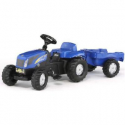 013074 New Holland T 7550 con rimorchio Rolly Toys