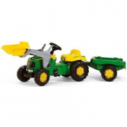 023110 John Deere con rimorchio e ruspa Rolly Toys