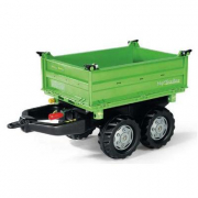Rimorchio RollyMega Trailer Verde Deutz Rolly Toys