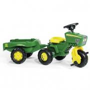 Triciclo trattore RollyTrac John Deere con rimorchio Rolly Toys