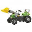 811465 RollyJunior RT verde con ruspa Rolly Toys