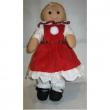 Bambola Mini abito rosso fiocco scozzese My Doll cm. 32