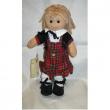 Bambola Mini scozzese giacca nera tubino My Doll cm. 32