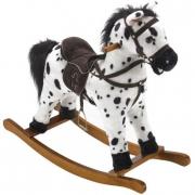 Cavallo a dondolo bianco e nero Carlotta Bayer chic 2000