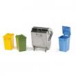 Bruder 02607 - Quattro bidoni della spazzatura
