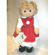 Bambola Abito rosso fiocco scozzese My Doll cm. 42