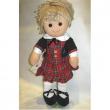Bambola Scozzese giacca nera tubino My Doll cm. 42