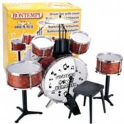 Batteria rock drummer 6 elementi con sgabello