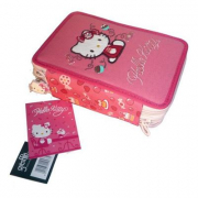 Astuccio triplo Hello Kitty Candy rosa