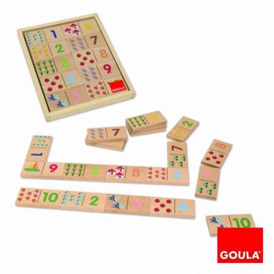 Gioco dei Numeri in legno Goula