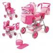 Carrozzina Super Combi road star per bambole rosa Bayer Chic 200