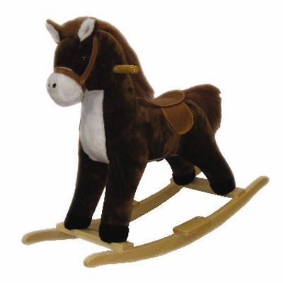 Cavallo A Dondolo In Peluche.Cavallo A Dondolo Peluche Giochi Giocattoli