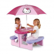 Tavolo da Pic Nic Hello Kitty con ombrellone Smoby