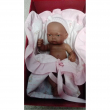 Bambola new born nera 26cm