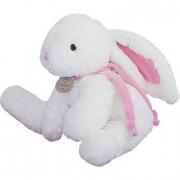 Coniglio con fiocco rosa cm. 30 Dou Dou et Compagnie