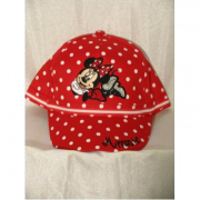 Cappellino Minnie Rosso a pois bianchi
