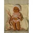 Bambola con copertina bagnetto cm. 35