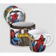 Portabiscotti in latta con tazza Spiderman