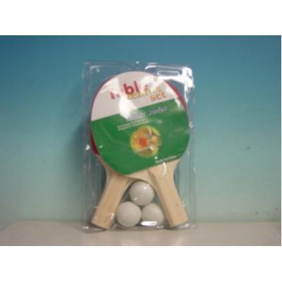 Set racchette Ping Pong con rete e 3 palline