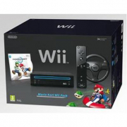 Consolle Wii nera+Mario Kart
