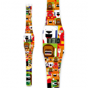 Pappwatch kids Hungry animals orologio