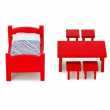 Pippi Calzelunghe Set mobili rossi