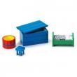 Pippi Calzelunghe Set mobili blu