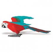 Pappagallo Macao rosso e blu cm. 10