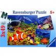 """Puzzle """"Orche - Animali del mare"""" 3x49 pezzi"""