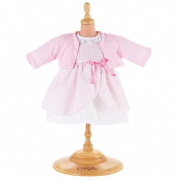 Vestito rosa a quadri e giacca rosa Corolle cm. 36-38