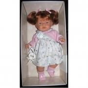 Bambola Joelle rossa vestito rosa cm. 40 Llorens