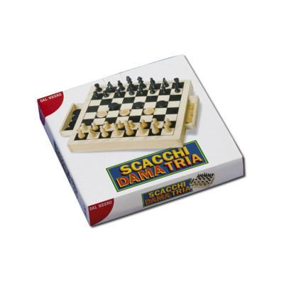 Scacchi - Dama - Tria legno Dal Negro