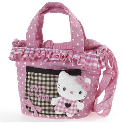 Borsa Shopper con tracolla Pink Brown Hello Kitty