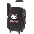 Valigia Trolley Aloha Nero Hello Kitty